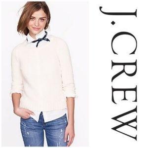 J.Crew Twisted stitch open-neck Sweater